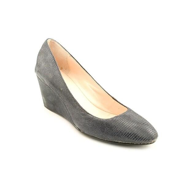dece819a8a7c Shop Taryn Rose Kathleen Women Open Toe Leather Blue Wedge Heel ...