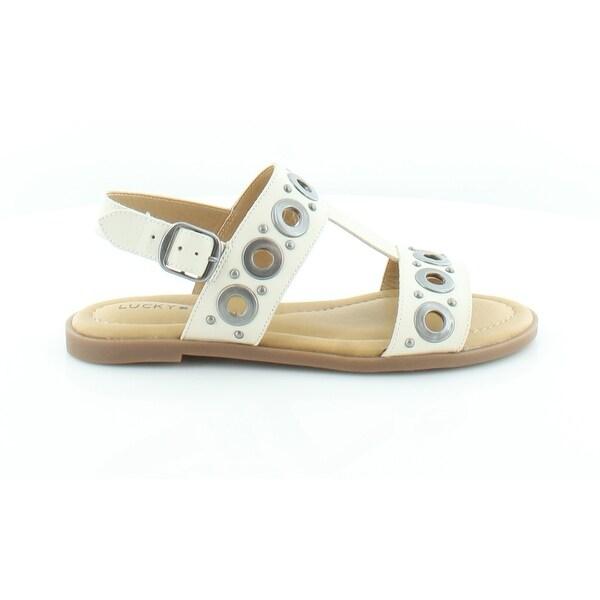Lucky Brand Ansel 2 Women's Sandals & Flip Flops Sandshell Ivory - 5.5