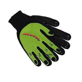 Scarred Green Monster Hand Mechanic`s Work Gloves Biker
