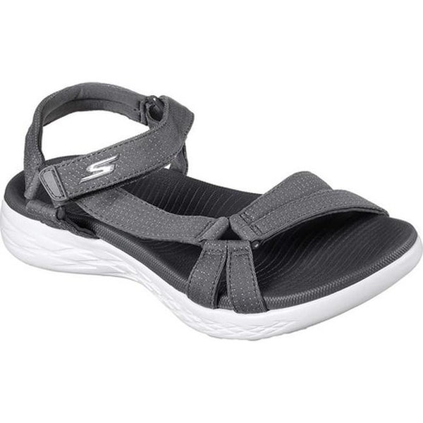 2862e4e6d6c6 Skechers Women  x27 s On the GO 600 Brilliancy Ankle Strap Sandal Charcoal
