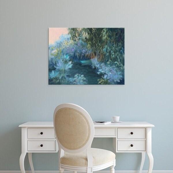 Easy Art Prints Mary Jean Weber's 'Monet's Garden VII' Premium Canvas Art