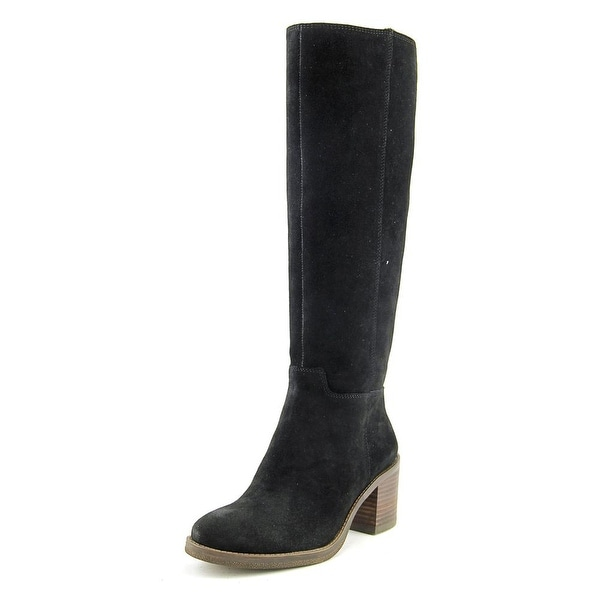 Lucky Brand Ritten Women Round Toe Leather Black Knee High Boot