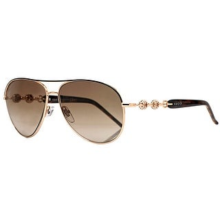 GUCCI Aviator GG 4239/N/S Women's 0JJ/CC Gold/Black Brown Gradient Sunglasses - 58mm-13mm-130mm