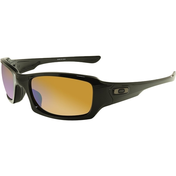 f6f6bf219a Oakley Men  x27 s Polarized Fives Squared Prizm OO9238-18 Black Rectangle  Sunglasses