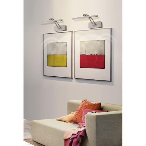 Porch & Den Milcliff 18-inch Matte Nickel LED Picture Light