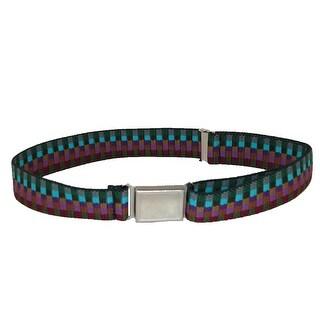 CTM® Kids' Elastic Multi Tone Adjustable Belt with Magnetic Buckle - earth tones - One Size