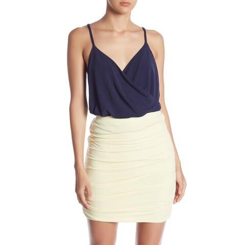 Free Press Navy Blue Peacoat Womens Size XS Easy Wrap Cami Tank Top