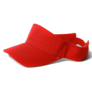 Summer Blank Red Adjustable Visor