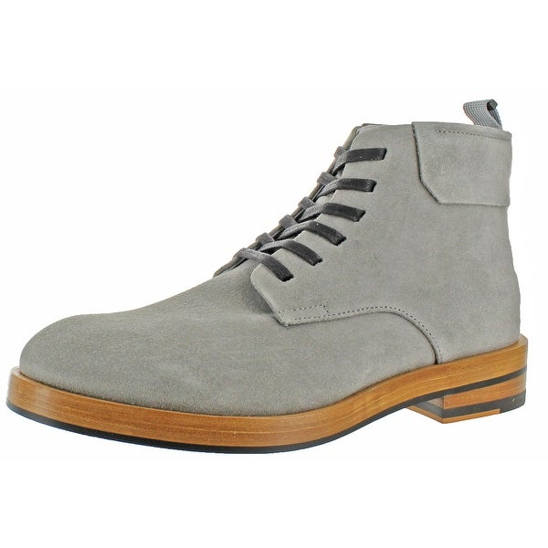 Calvin Klein Men's Oily Suede Casual Ankle Boots Shoe