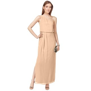 Adrianna by Adrianna Papell One Shoulder Chiffon Drape Eve Gown Dress