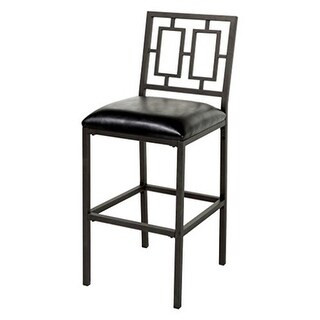 30 in. Lansing Metal Barstool with Black Upholstered Seat & Coffee