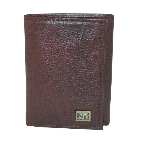 Nautica Men's Leather Tifold Wallet with ID Window - one size