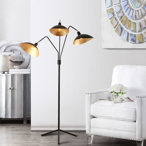 "SAFAVIEH Lighting 70-inch Iris Black/ Gold Floor Lamp - 40-51""x16-29""x69.5"""