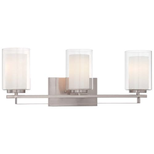 Minka Lavery 6103-84 3 Light Vanity Light from the Parsons Studio Collection - Grey