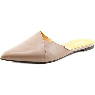 Calvin Klein Garnett Women Pointed Toe Leather Mules
