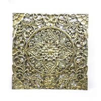 decorously Classic Metal Wall Plaque, Gold
