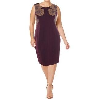 Calvin Klein Womens Wear to Work Dress Embellished Knee-Length