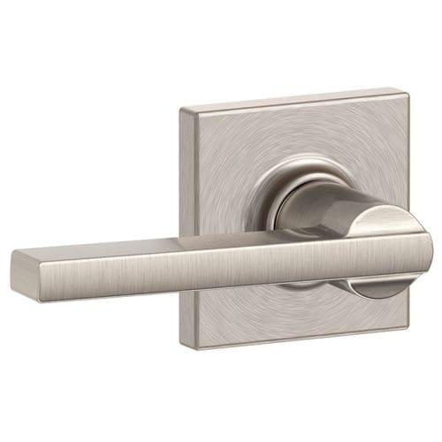 Schlage F10 Lat Col Latitude Passage Door Lever Set With