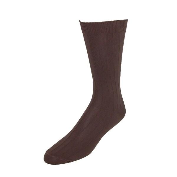 Vannucci Men's Nylon Wide Wonder Top Circulation Dress Socks
