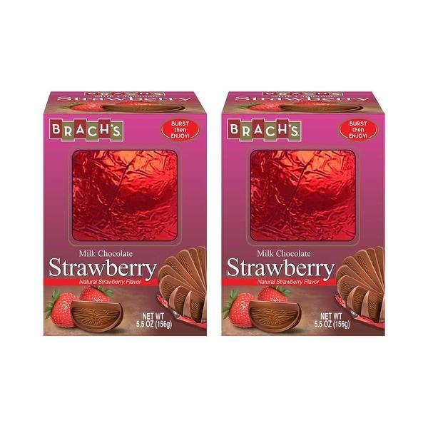 Brach's Milk Chocolate Natural Strawberry Flavor Ball 5.5 oz Box Pack Of 2