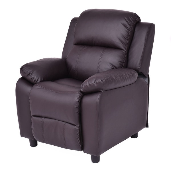 Costway Kids Recliner Sofa Armrest Chair Couch Lounge Children Living Room  Furniture Brown Part 51