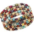 D'AMA Women's Pearl Bracelet - Easy-On Stretch 5 Strand With Stainless Steel Spacer Beads - Thumbnail 6