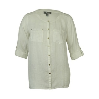 JM Collection Women's Utility Shirt