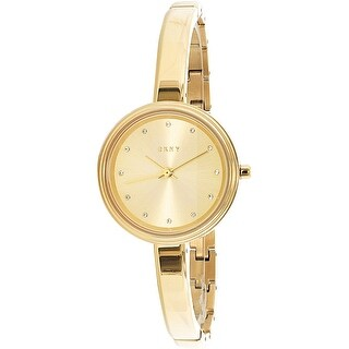 DKNY Women's NY2599 Gold Stainless-Steel Plated Quartz Fashion Watch
