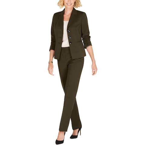 Le Suit Womens Pant Suit Business Work Wear