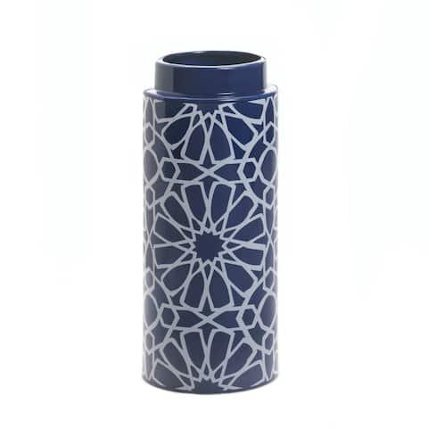 "Orion Ceramic Vase 4.87x4.87x11.5"""