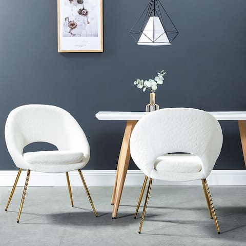 Galenia Upholstered Dining Chair with Open Back Set of 2