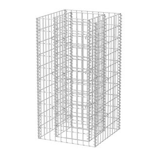 """vidaXL Gabion Planter Steel 19.7""""x19.7""""x39.4"""""""