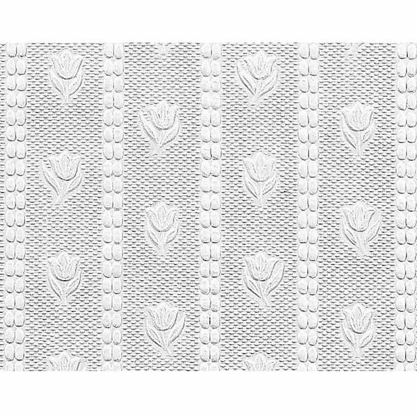 Wallpaper White Embossed Textured Vinyl Tulip 56 sq. ft. | Renovator's Supply