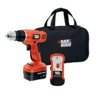 Black & Decker GCO12SFB Drill with Stud Sensor and Storage Bag,12V
