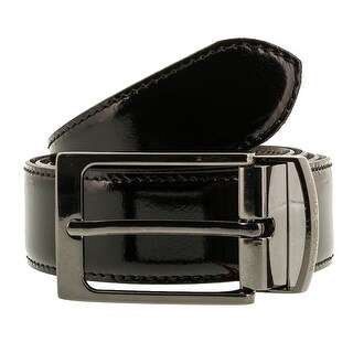 Romeo Gigli C956/3R NERO.MORO Black/Brown Leather Adjustable Mens Belt