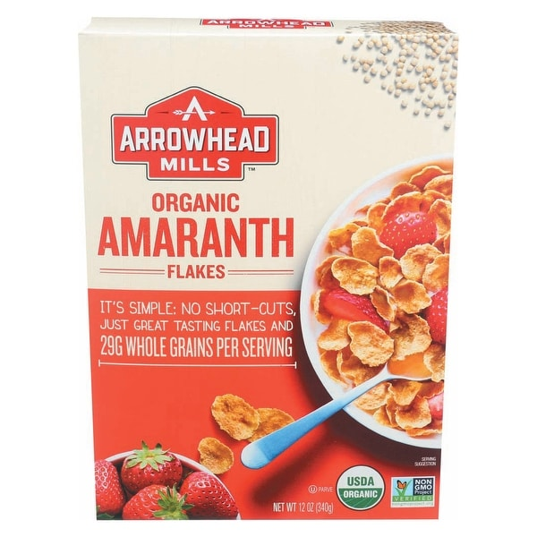 Arrowhead Mills Organic Amaranth Flakes - Case of 12 - 12 oz.