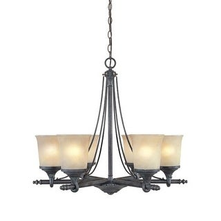 Designers Fountain 97386 Six Light Up Lighting Chandelier from the Austin Collection