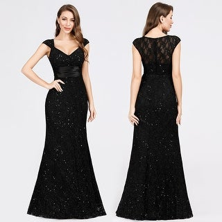 Ever-Pretty Womens Elgant V-Neck Glitter Evening Dresses 07919