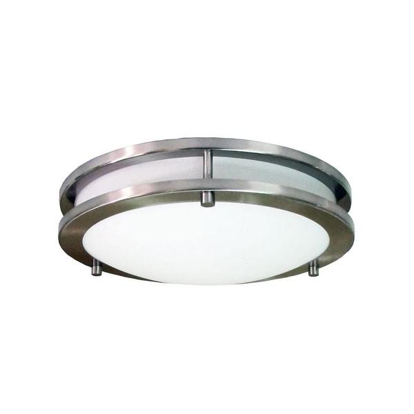 HomeSelects International 6106 Saturn 3 Light Flush Mount Ceiling Fixture - Brushed nickel