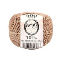 Darice Hemp Cord Ball Natural 10# 400ft