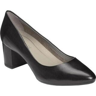 Aerosoles Women's Silver Star Pump Black Leather