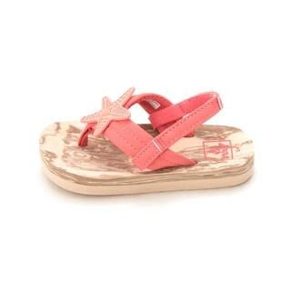 Kids Reef Girls STARFISH Bungee SlingBack Flip Flops