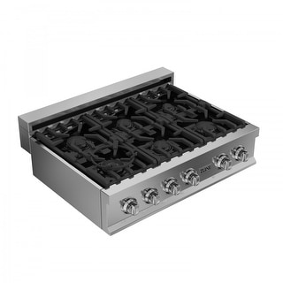 ZLINE 36 in. Ceramic Rangetop with 6 Gas Burners (RT36)