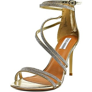 Steve Madden Fiffi Women Open-Toe Synthetic Gold Heels