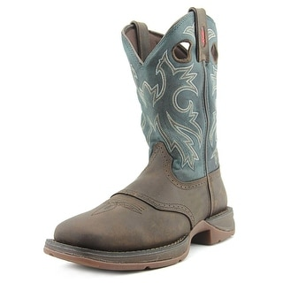 Durango Pull-On Men W Round Toe Leather Tan Western Boot