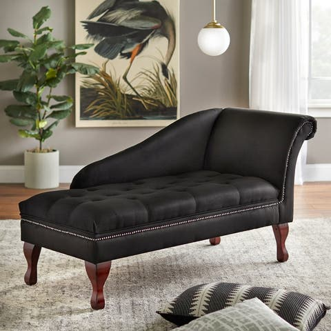 Simple Living Chaise Lounge with Storage
