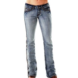 Cowgirl Tuff Western Denim Jeans Women Dirty Diamond Light Wash JDIRDI