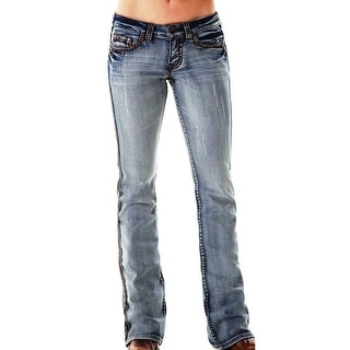 Cowgirl Tuff Western Denim Jeans Women Dirty Diamond Light Wash JDIRDI