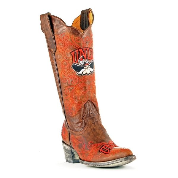 Gameday Boots Womens Western College Team UNLV Rebels Brass