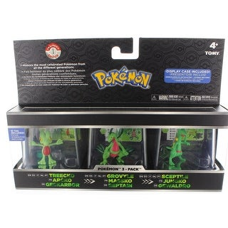 "Pokemon Trainer's Choice 2"" Mini Figure 3-Pack: Treecko, Grovyle and Sceptile"
